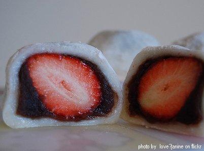 strawberry-mochi